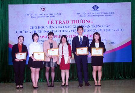 Trao thưởng các học viên xuất sắc giai đoạn trung cấp dự án GYBM5