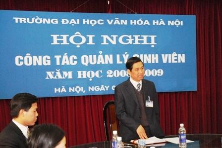 Hội nghị công tác quản lý sinh viên năm học 2008-2009