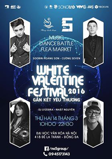 """Chương trình """"White Valentin Festival 2016"""""""