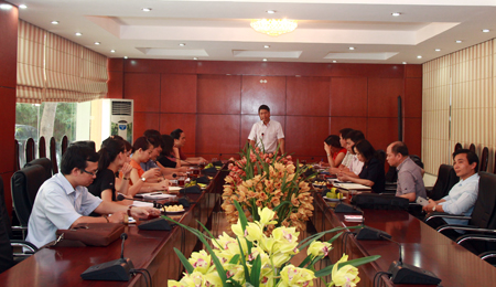 Tan Trao University visited and worked at the University of Hanoi Culture