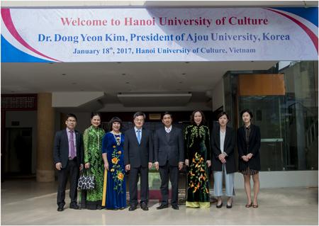 Đón tiến và làm việc với GS. Dong Yeon Kim - Hiệu trưởng Trường Đại học Ajou, Hàn Quốc