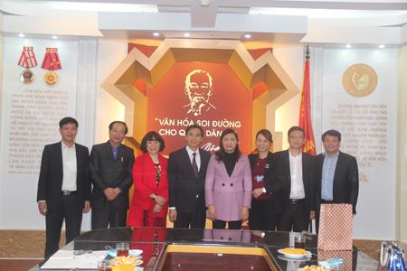 Đón tiếp và làm việc với Lãnh đạo UBND tỉnh và sở VHTT&DL Thái Bình