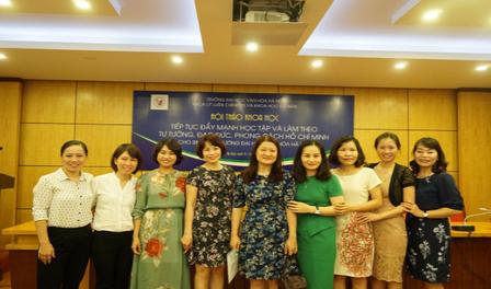 """Hội thảo khoa học: """"Tiếp tục đẩy mạnh học tập tư tưởng, đạo đức, phong cách Hồ Chí Minh cho sinh viên trường Đại học Văn hóa Hà Nội"""""""