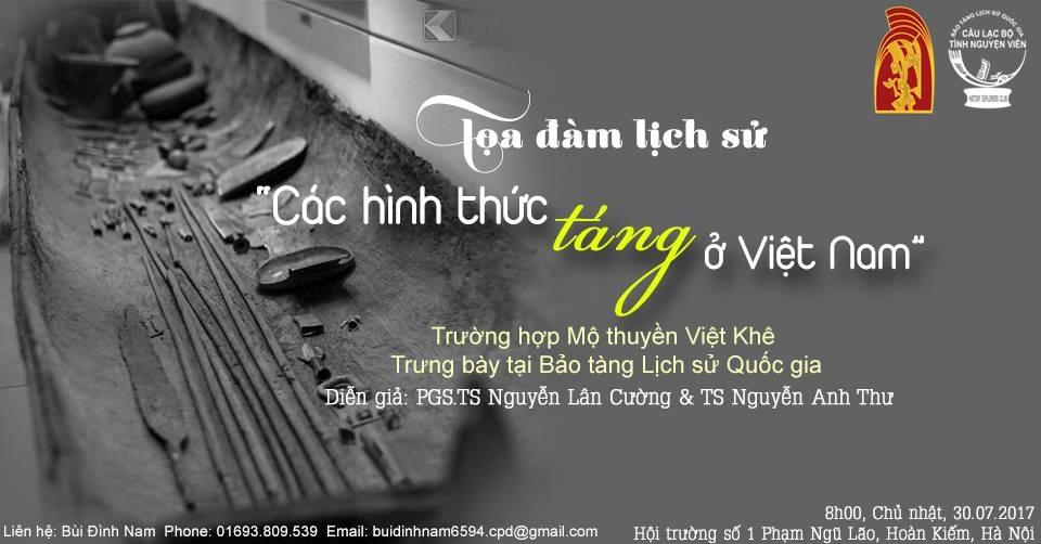 """Tọa đàm """"Các hình thức táng ở Việt Nam"""" - Trường hợp Mộ thuyền Việt Khê, trưng bày tại Bảo tàng Lịch sử Quốc gia."""