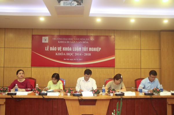 Lễ bảo vệ Khóa luận tốt nghiệp của sinh viên Khoa Di sản văn hóa, niên khóa  2014 - 2018
