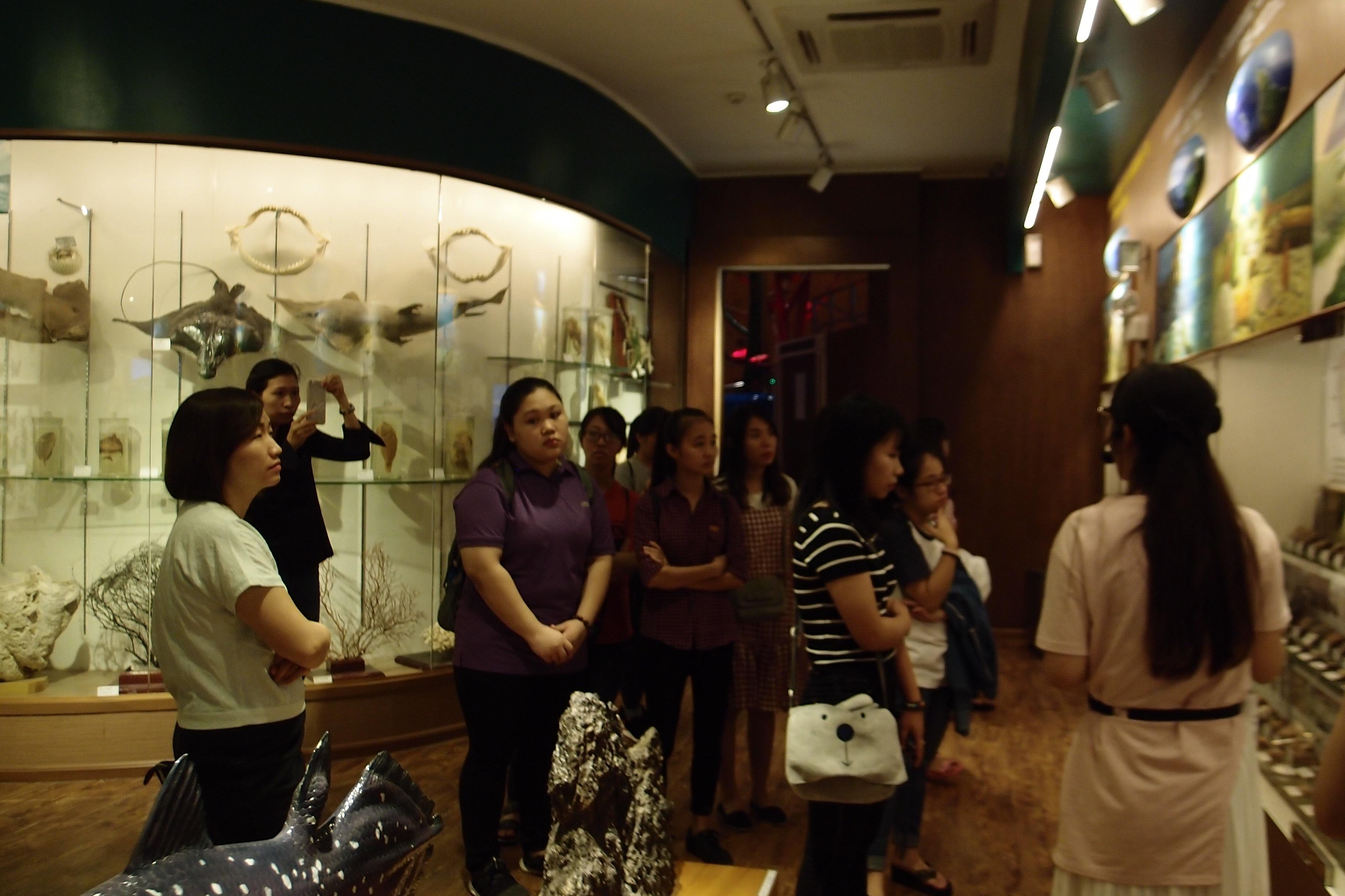 Buổi học thực tế của lớp BT 35 Khoa Di sản Văn hóa tại Bảo tàng Thiên nhiên Việt Nam