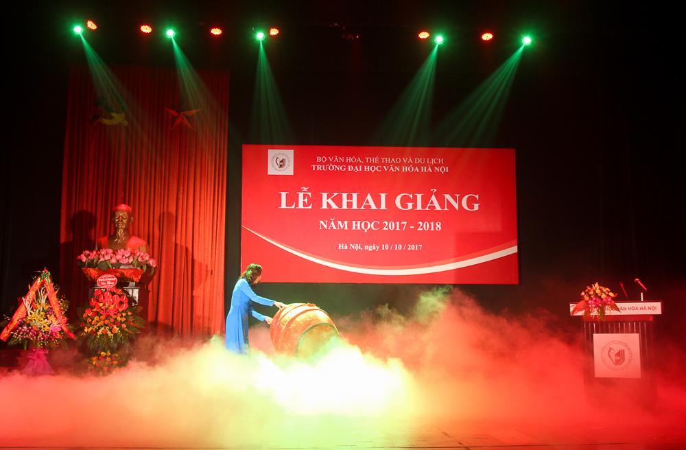 Tưng bừng Lễ khai giảng chào mừng năm học 2017 - 2018 của trường Đại học Văn hóa Hà Nội