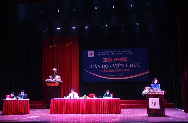 Hội nghị Cán bộ - Viên chức năm học 2017 - 2018
