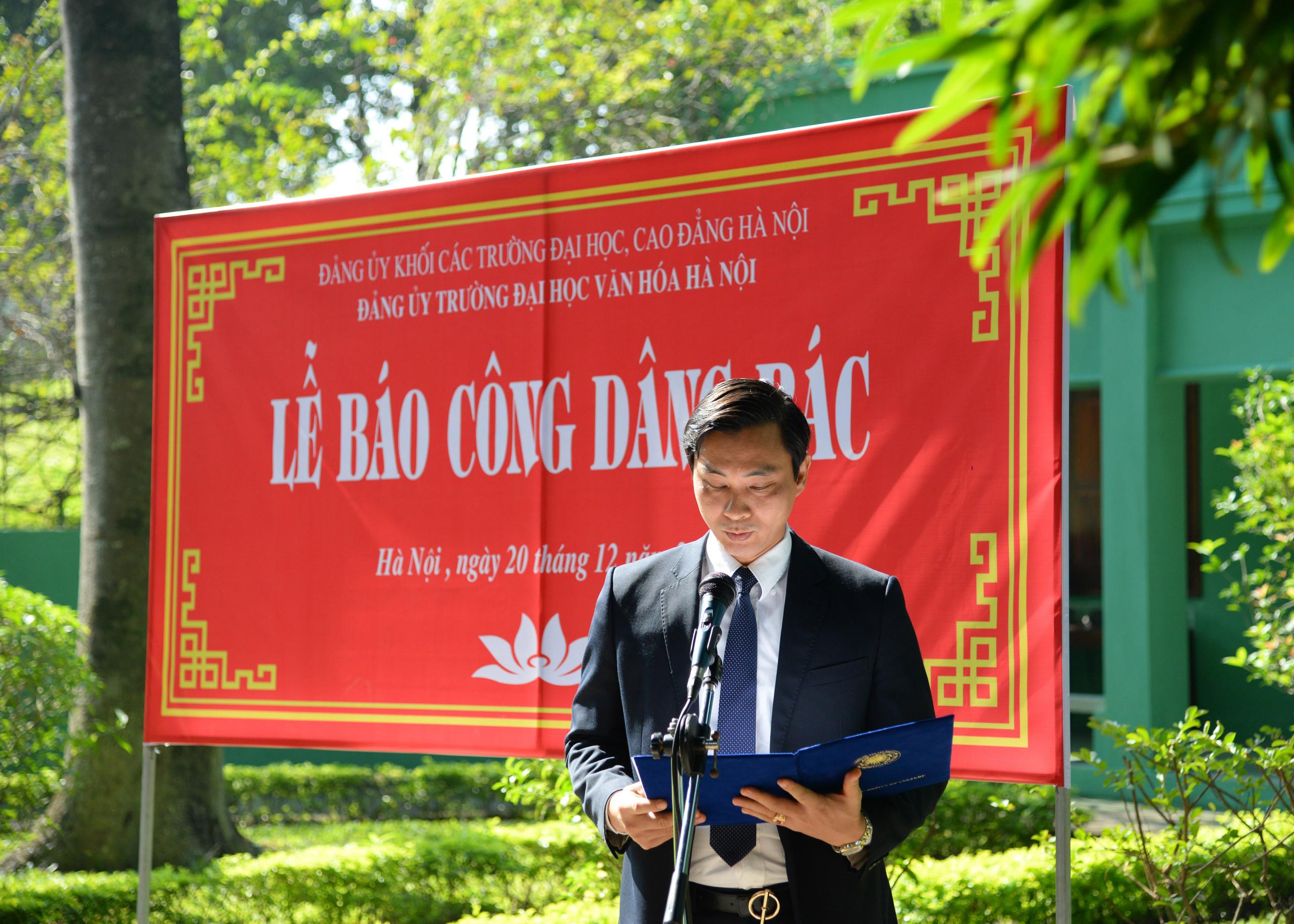 Trường Đại học Văn hóa Hà Nội tổ chức lễ báo công dâng Bác