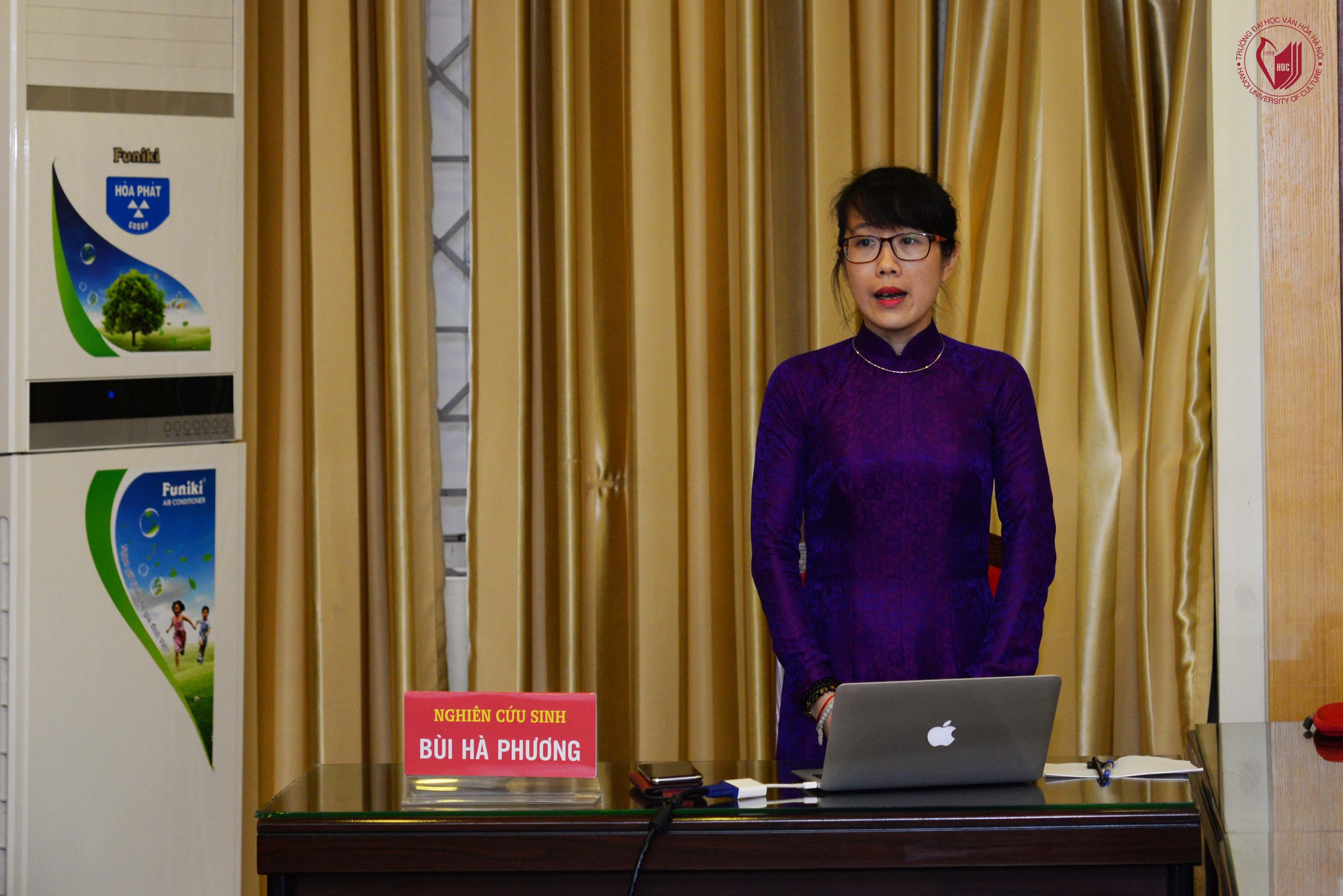 Lễ bảo vệ Luận án Tiến sĩ cấp Trường của NCS Bùi Hà Phương