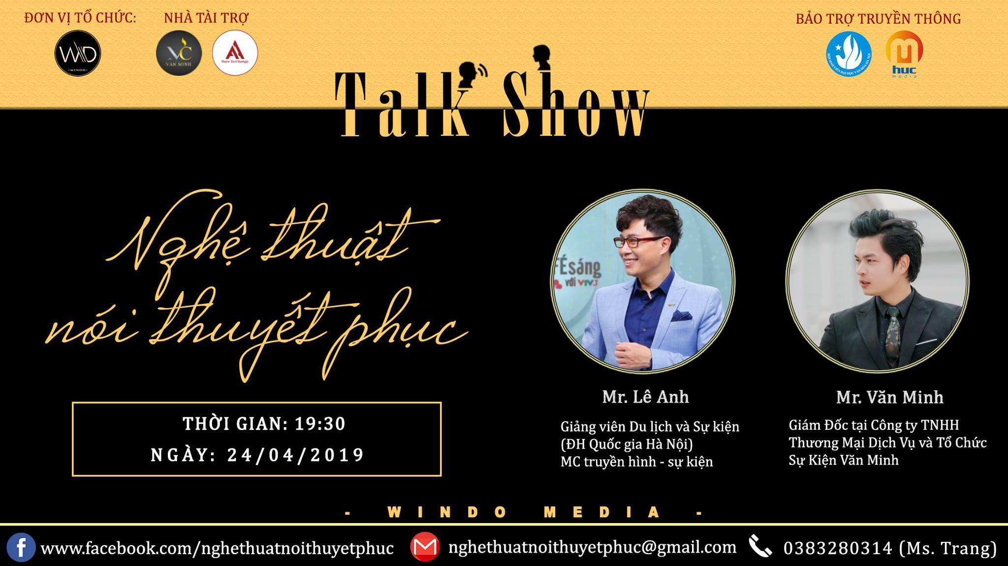 Talkshow: Nghệ thuật nói thuyết phục