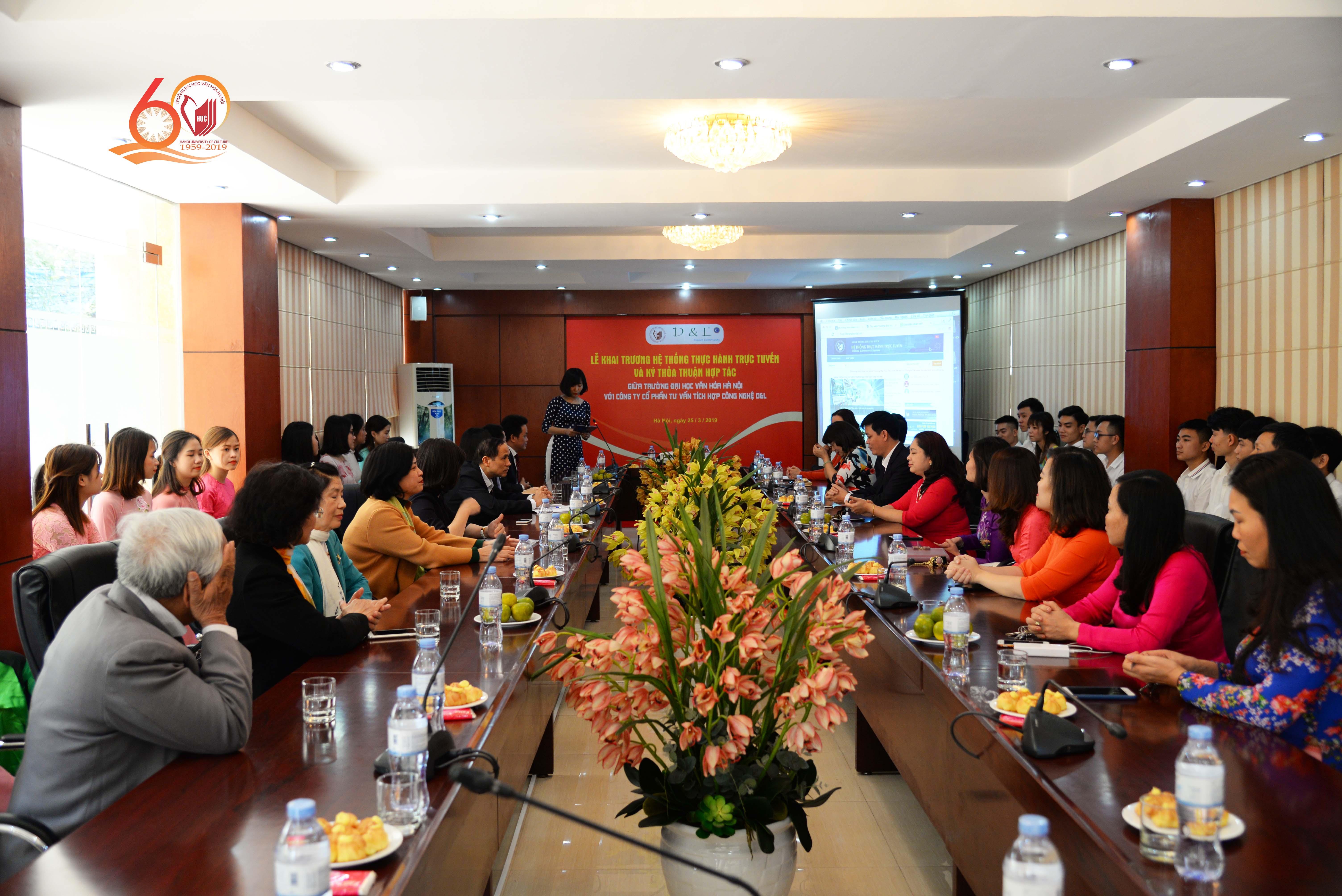Khai trương Hệ thống thực hành trực tuyến và ký kết thoả thuận hợp tác giữa Trường Đại học Văn hóa Hà Nội và Công ty D&L