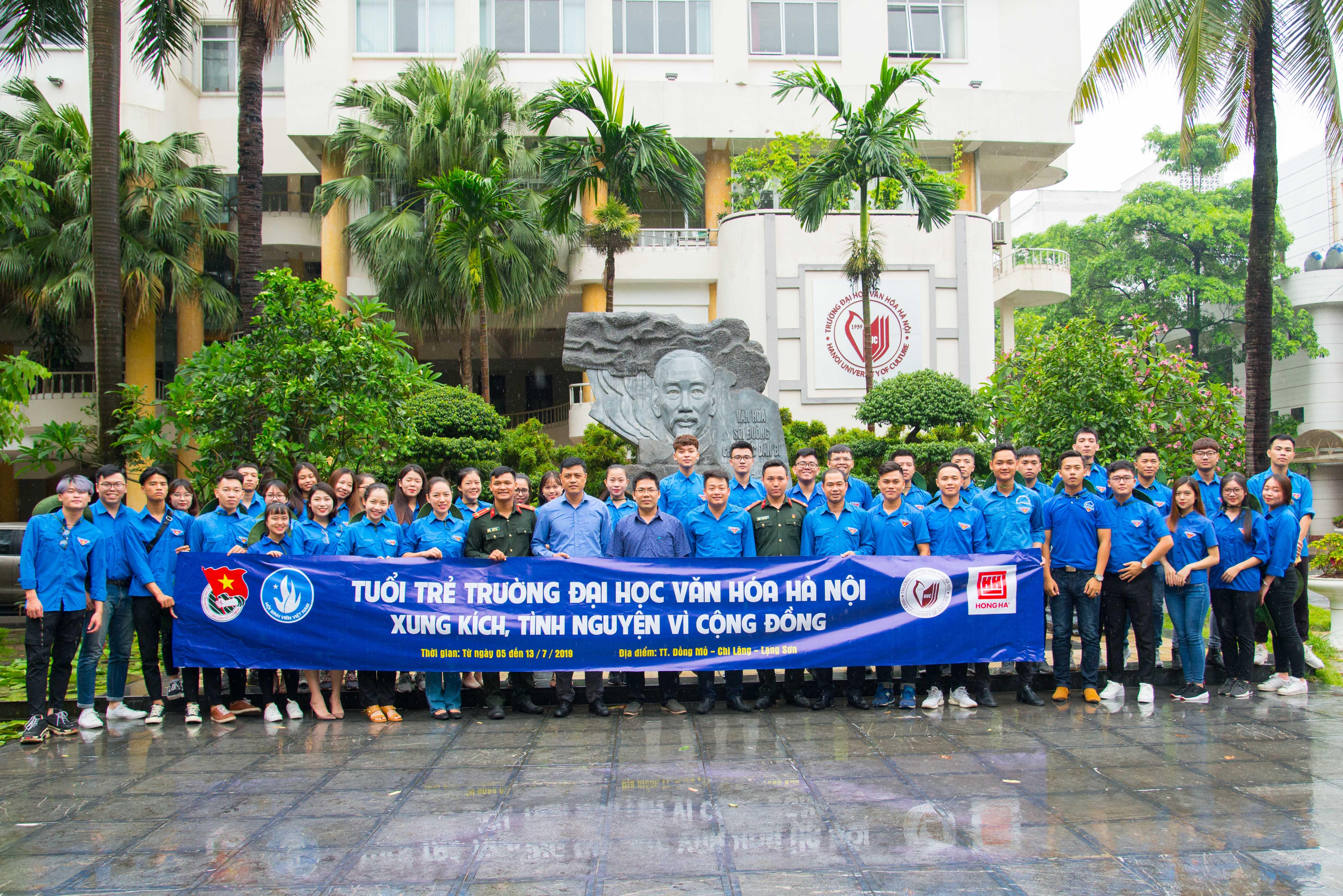 Mùa hè xanh 2019: Hành trình rèn luyện và cống hiến của tuổi trẻ Trường Đại học Văn hóa Hà Nội