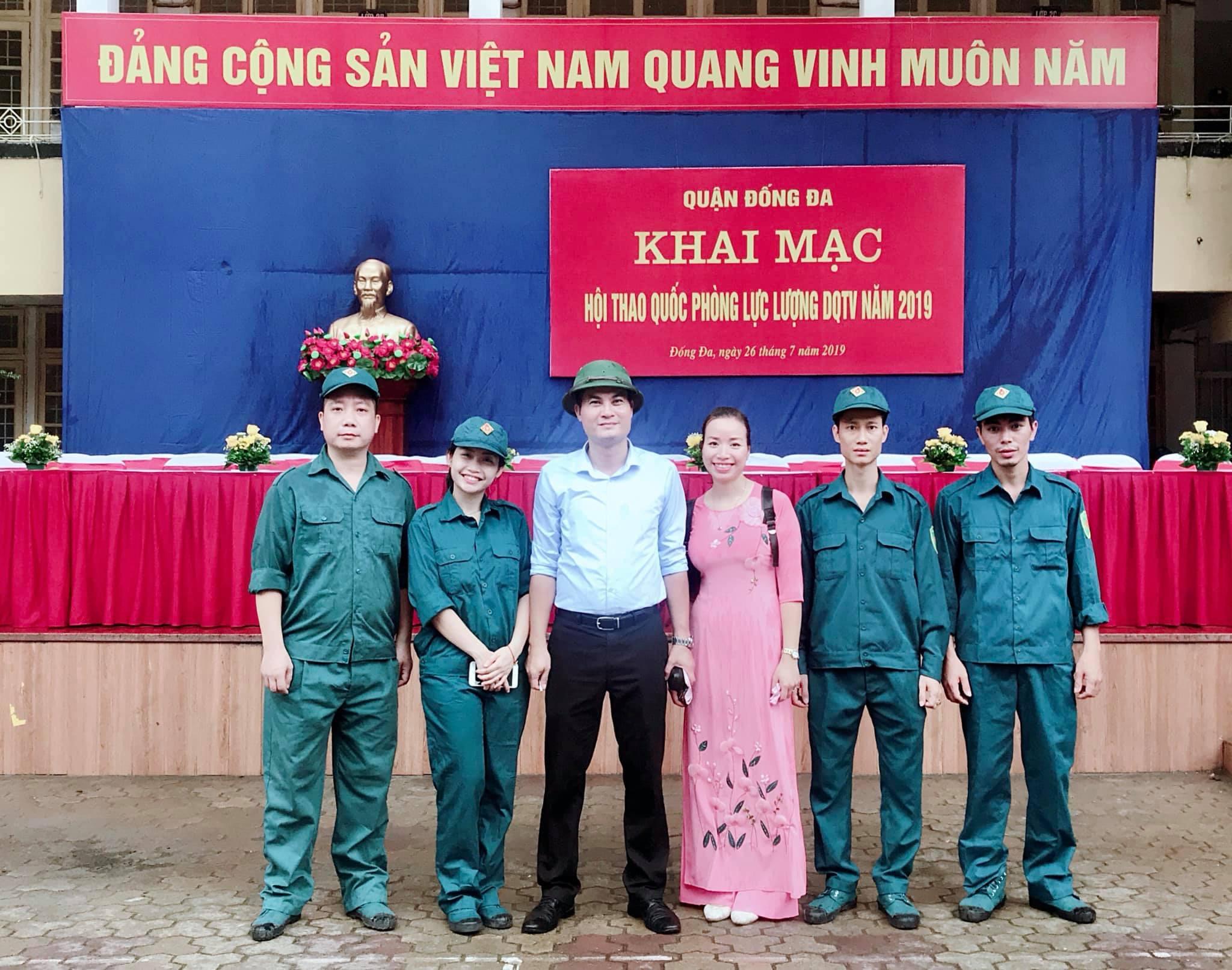 Chiến sĩ tự vệ Trường Đại học Văn hóa Hà Nội tham gia Hội thao Quốc phòng năm 2019