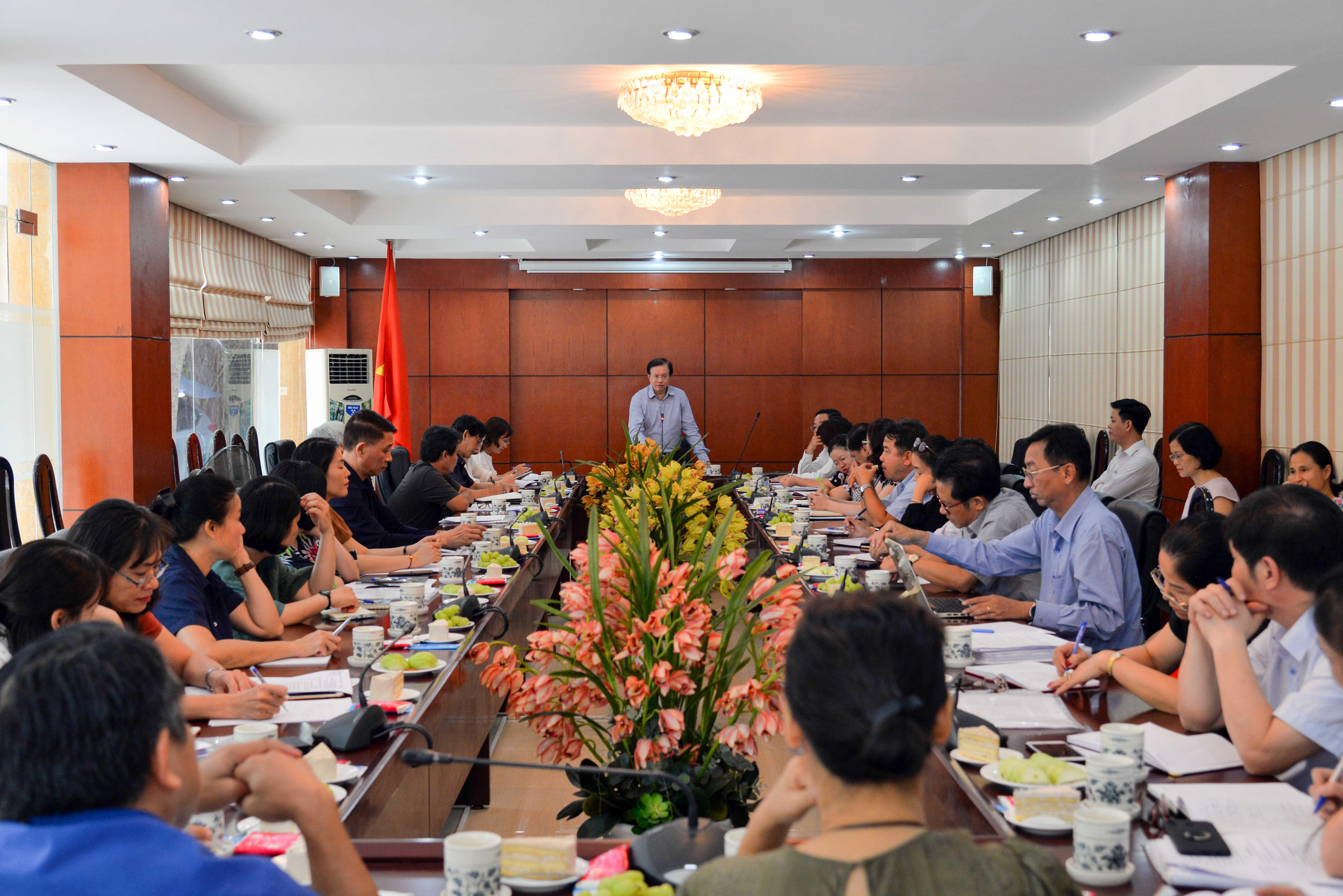 Thứ trưởng Tạ Quang Đông làm việc với các sơ sở đào tạo thuộc Bộ VHTTDL về triển khai Đề án đào tạo tài năng lĩnh vực văn hóa nghệ thuật năm 2019
