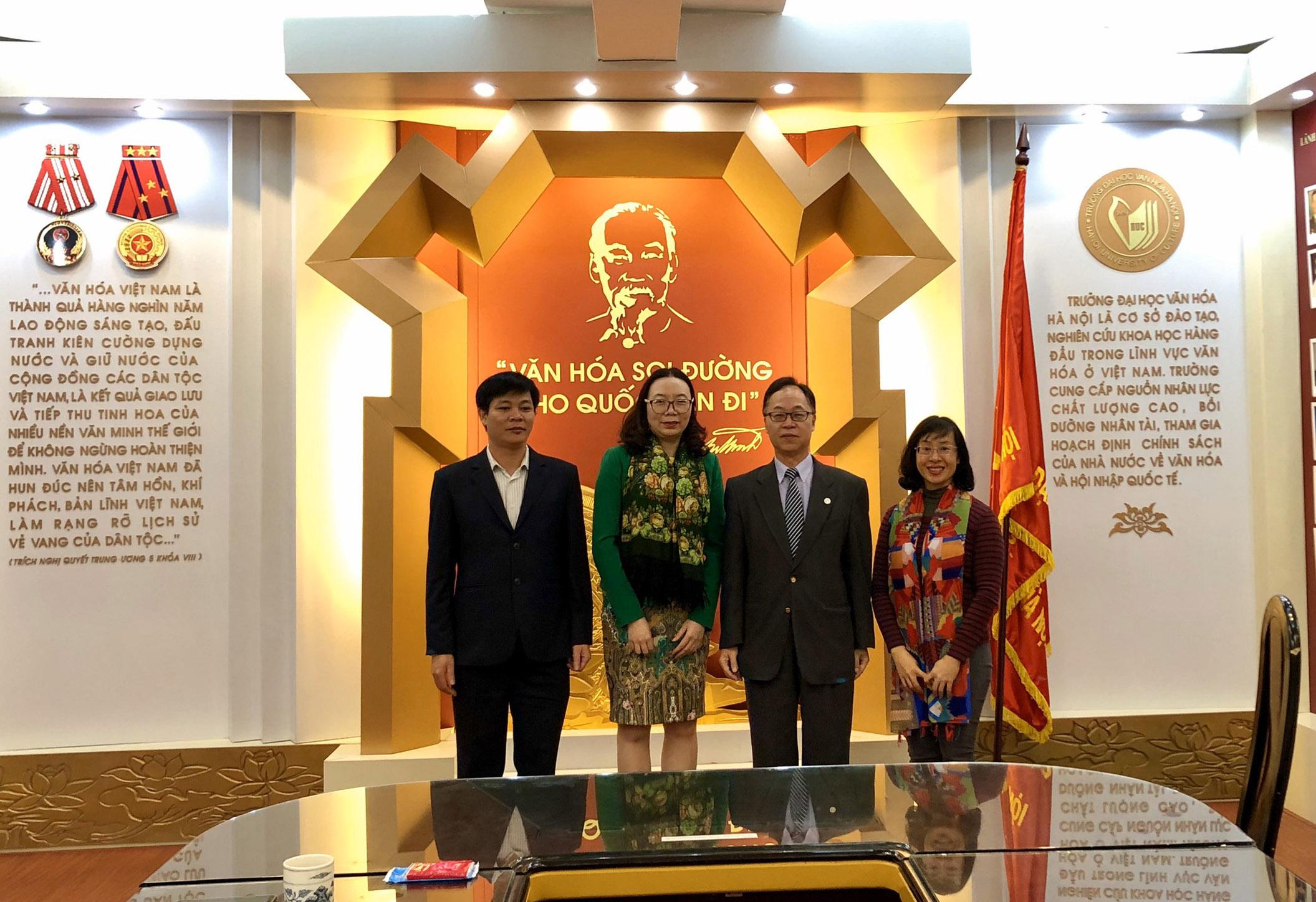 Tiếp và làm việc với Hiệu trưởng Trường Đại học Quốc lập Cao Hùng - Đài Loan