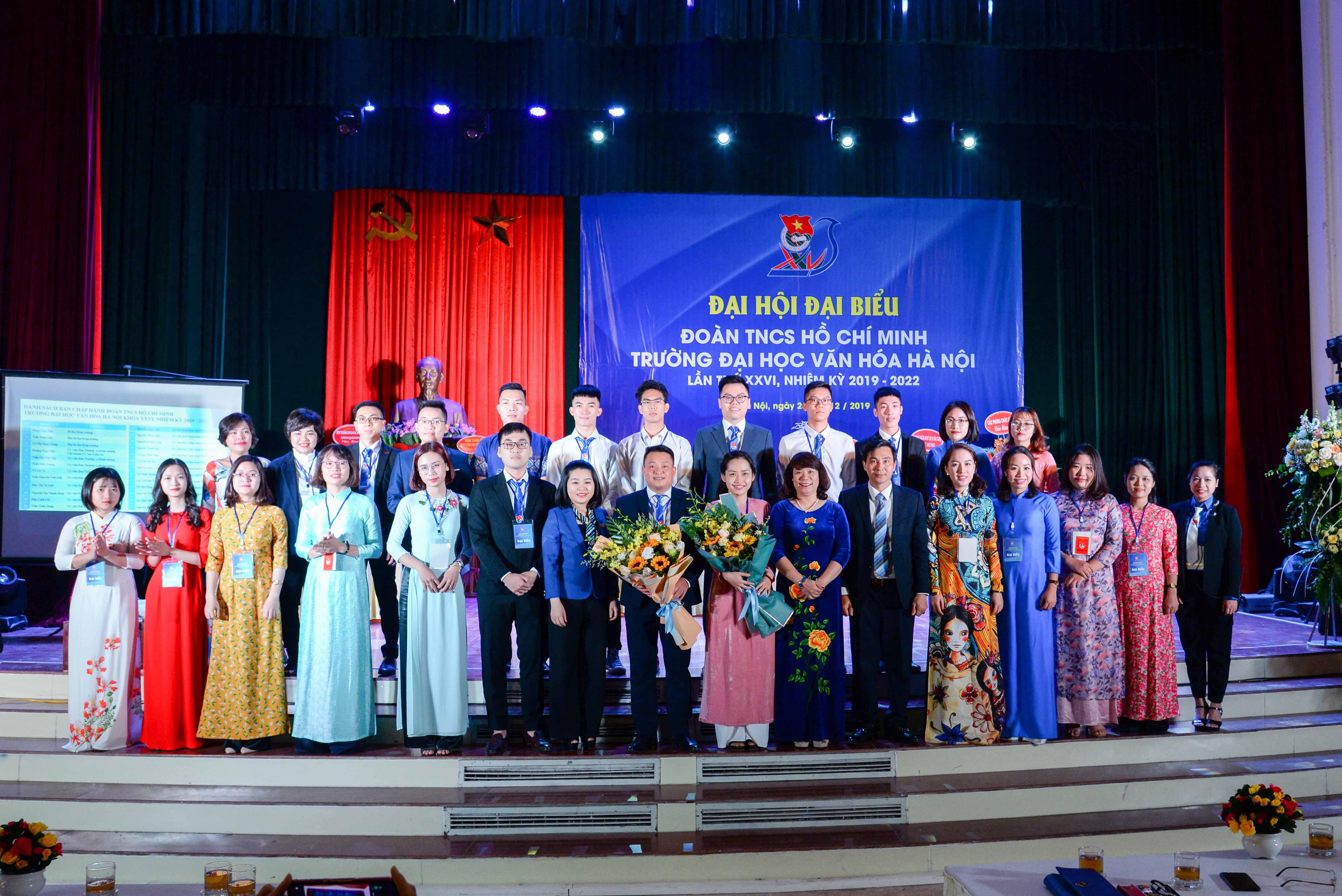 Đại hội Đại biểu Đoàn TNCS Hồ Chí Minh Trường Đại học Văn hoá Hà Nội lần thứ 26, nhiệm kỳ 2019 - 2022