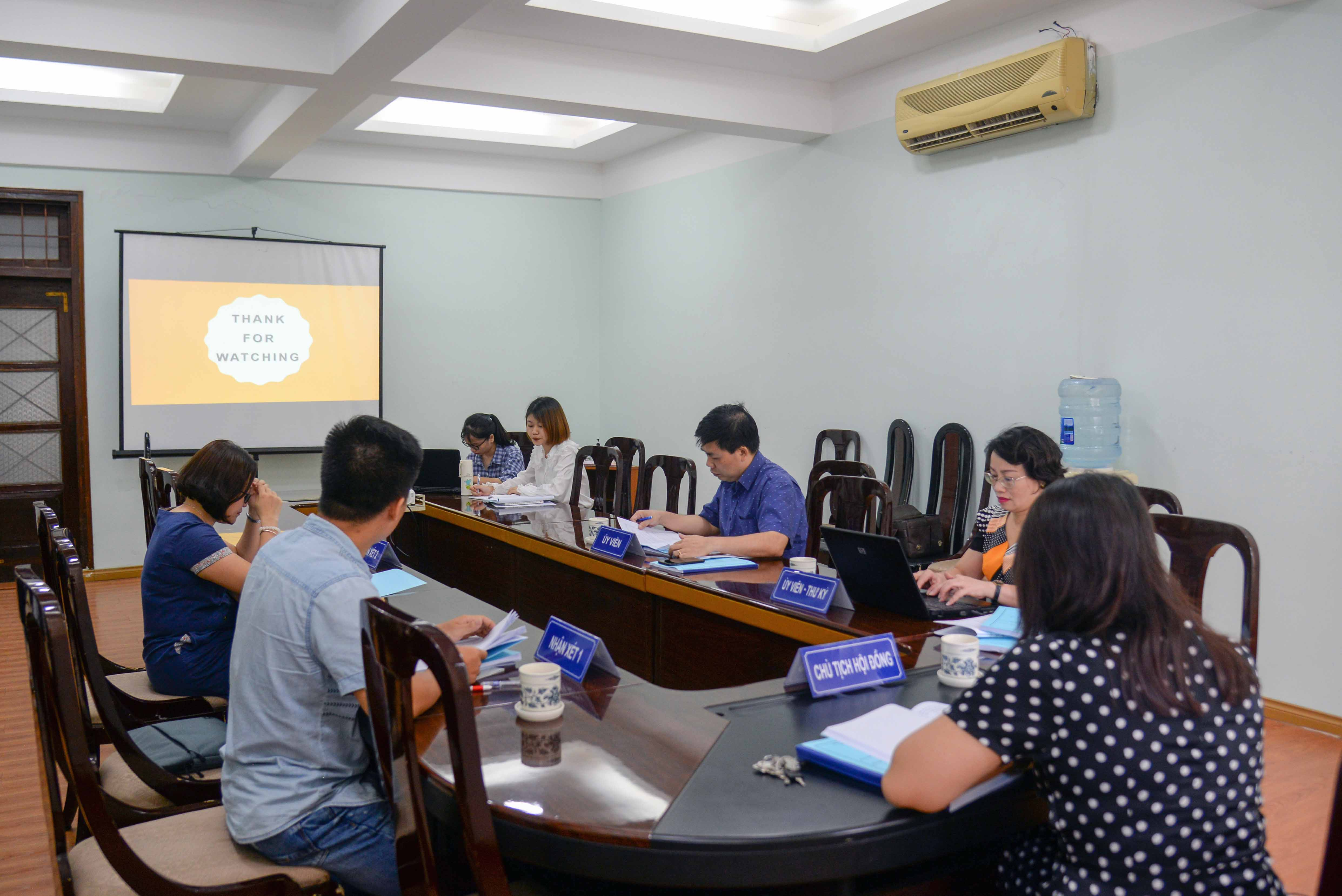 Nghiệm thu 09 đề tài NCKH sinh viên năm 2020