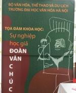 Đoàn Văn Chúc – người đặt nền móng cho chuyên ngành văn hóa học ở Việt Nam