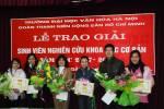 Lễ trao giải và phát động Sinh viên nghiên cứu các môn khoa học cơ bản năm học 2008-2009